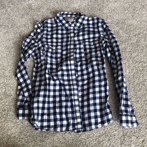 Blue and white plaid shirt from old navy